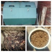 Compost Collage from our friend Lowell in Idaho